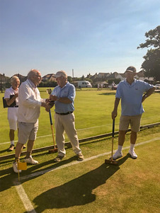 Tim Hughes winner High Handicap Challenge East Dorset CC 3rd July 2019