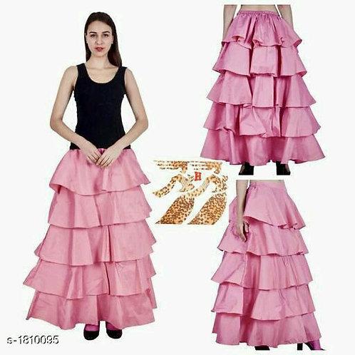Fancy Tapeta Silk Women's Ruffle Skirts