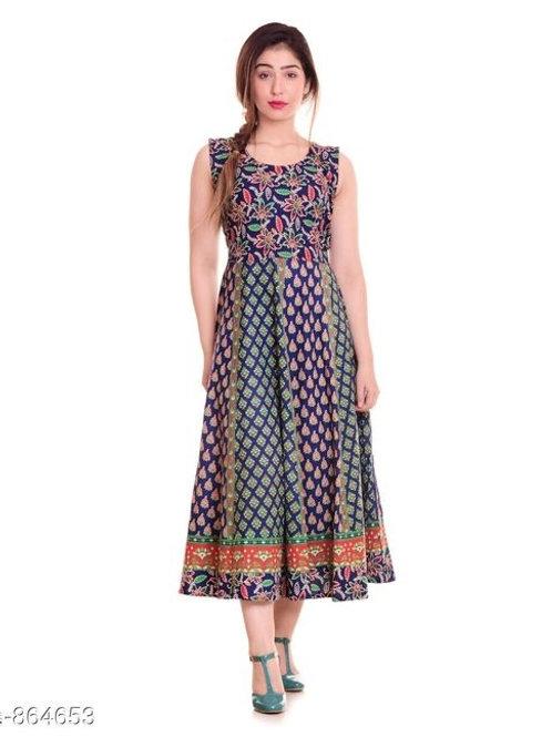 Jaipuri Pretty Cotton Printed Womens Kurtis