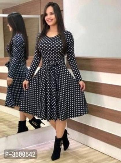 Stylish Crepe Printed Dress