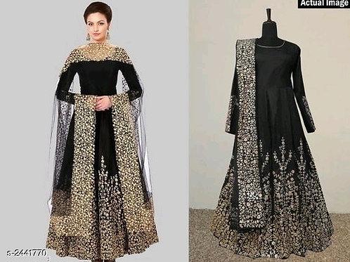 Attractive Trendy Taffeta Silk Suits & Dress Materials V 1