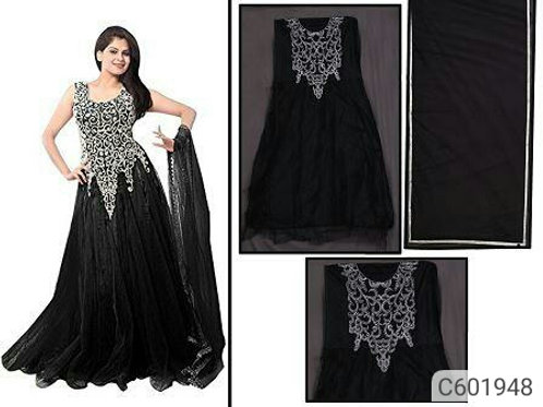 Beautiful Net Embroidered Gown