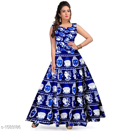 Charvi Gorgeous Cotton Printed Dresses V 5