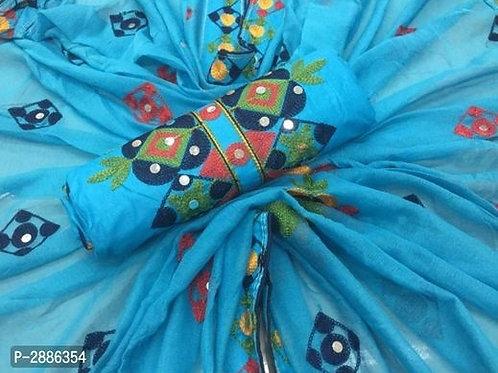 Cotton Mirror Work Dress Material