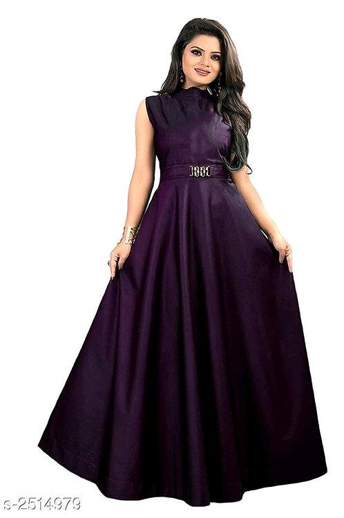 Vasavi Attractive Taffeta Silk Western Gowns