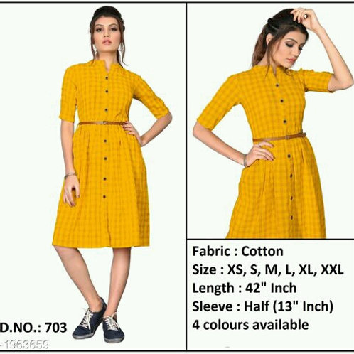 Diva Stylish Pure Cotton Checkered Women's Kurtis