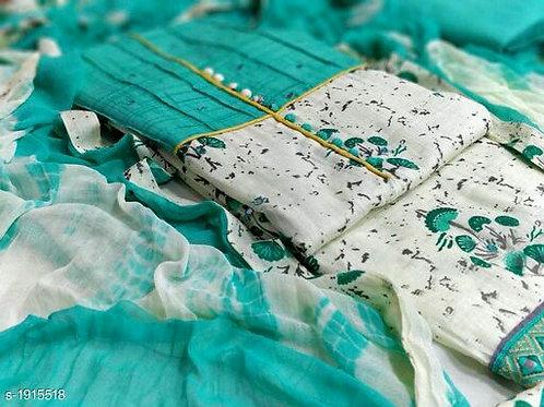 Divine Voguish Cotton Suits & Dress Materials