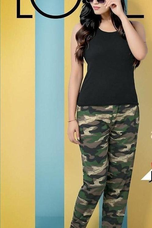 Eva Trendy Fashionable Cotton Rib Sport Jeggings