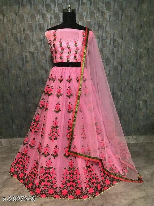 Divine Fabulous  Soft Mono Net Women's Lehengas