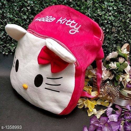 Myhra Trendy Soft Fleece Printed Kid's Backpack