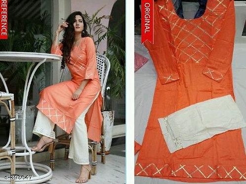 Ladies Rayon Kurta Palazzo Suits
