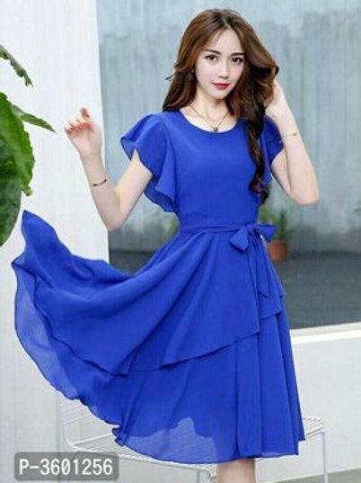 Women's Georgette Solid Dresses