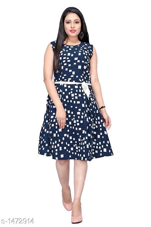 Agrima Voguish  American Crepe Women Dresses