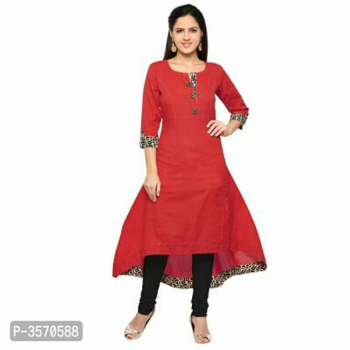 Work Wear Cotton Printed Women Kurtas