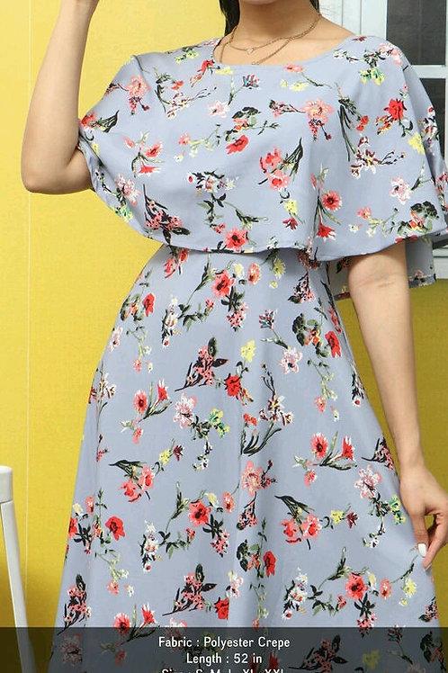 Nia Women's Polyester Crepe Dress's V 2
