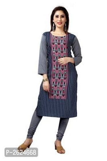 Crepe Straight Kurta For Women