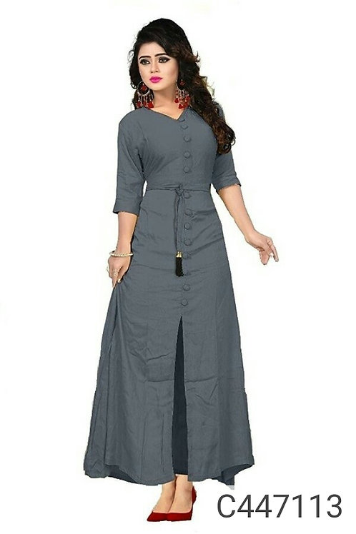 Simple Solid Rayon Fancy Kurtis