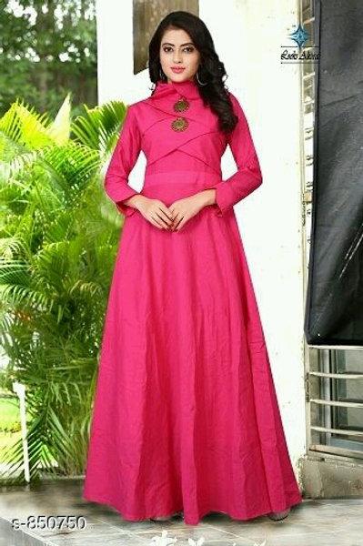 Ariya Gorgeous Rayon Slub Women Gowns V 2