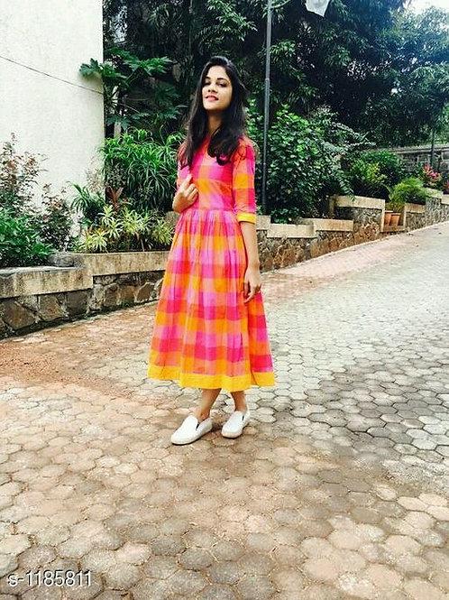 Mythili Stylish Khadi Cotton Women's Dress V 3
