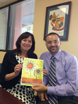 SVPAZ Terri and CBHS Chad  first school to say YES to bloom it up
