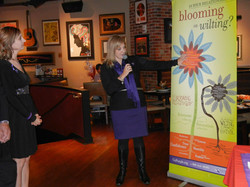 launch of bloom it up at vzw check presentation at hard rock cafe