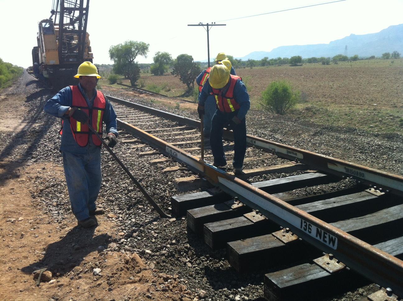 Mantenimiento vías de tren