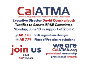 CalATMA to testify in support of AB 778 (Low) and AB 779 (Low)