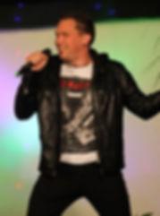 Schlagersänger buchen Chris Herbst auf der Bühne TV Aufzichnung