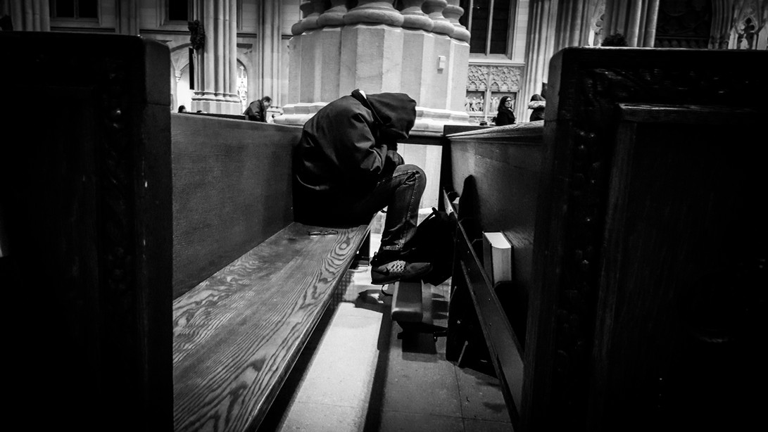 Homeless Prays-NYC