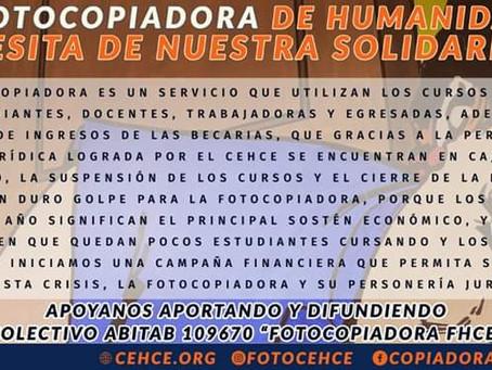 La Fotocopiadora de Humanidades necesita de nuestra solidaridad