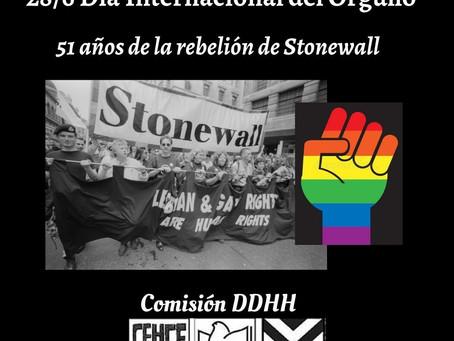 28/6 Día internacional del Orgullo