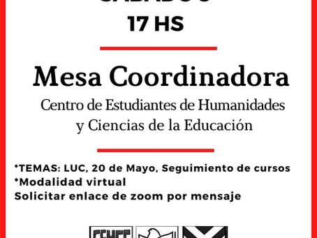 Mesa Coordinadora 09/05/2020
