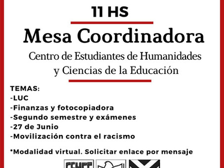 Mesa Coordinadora 26/06/2020