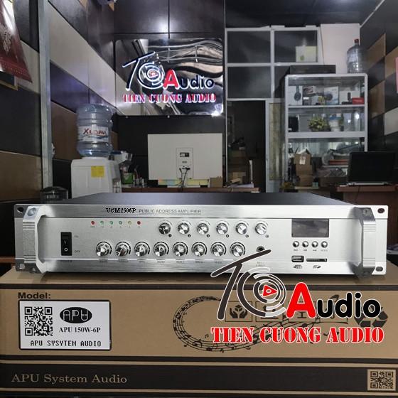 Amply APU VCM150w6P chia 6 vùng âm thanh, điều chỉnh âm lượng từng vùng