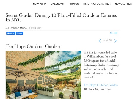 Guest of a Guest: Secret Garden Dining at Ten Hope