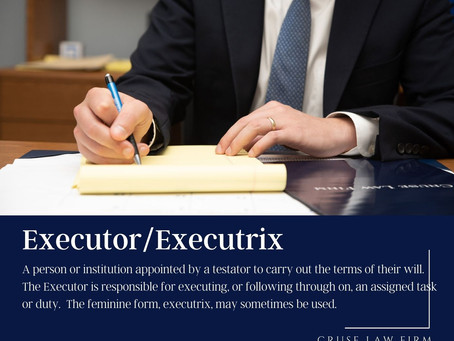 Executor, know your role?