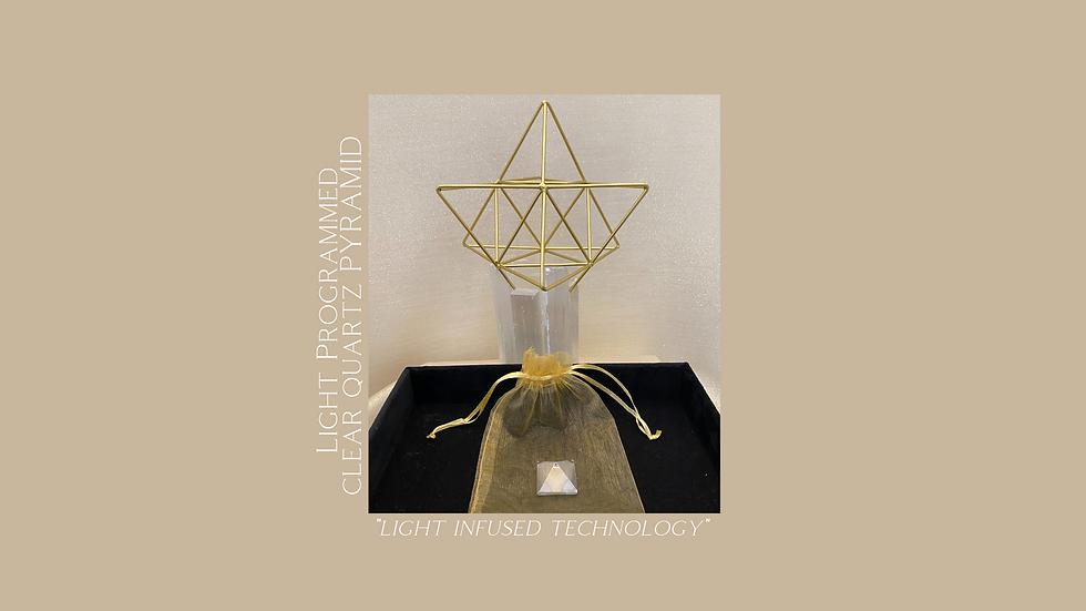 Clear Quartz Pyramid - Personalized