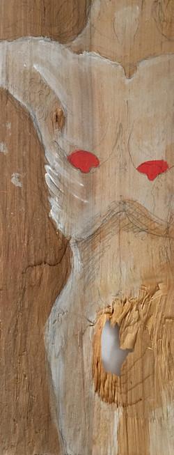 Figure on Wood