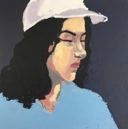 Painted self portrait