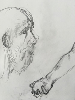 face_hand doodle