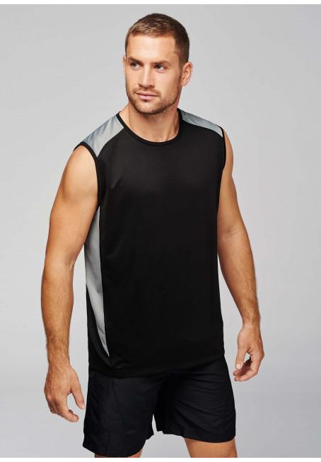 T-shirt bi-matière sport