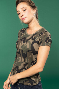 T-shirt camouflage femme