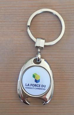 Porte-clés jeton aimant
