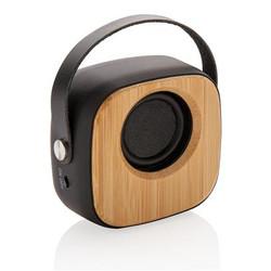 Haut-parleur 3W en ABS avec finition gomme et bambou naturel