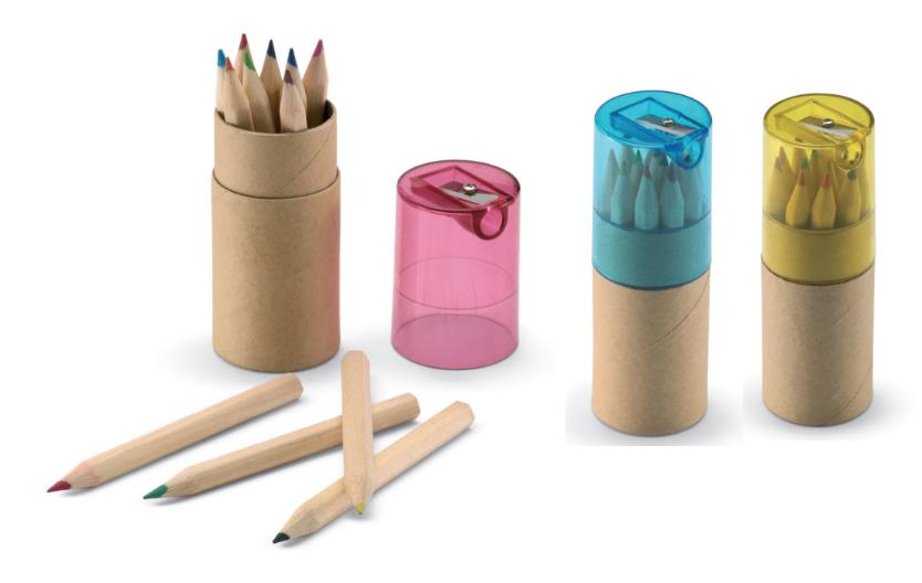 Set crayons + taille crayon