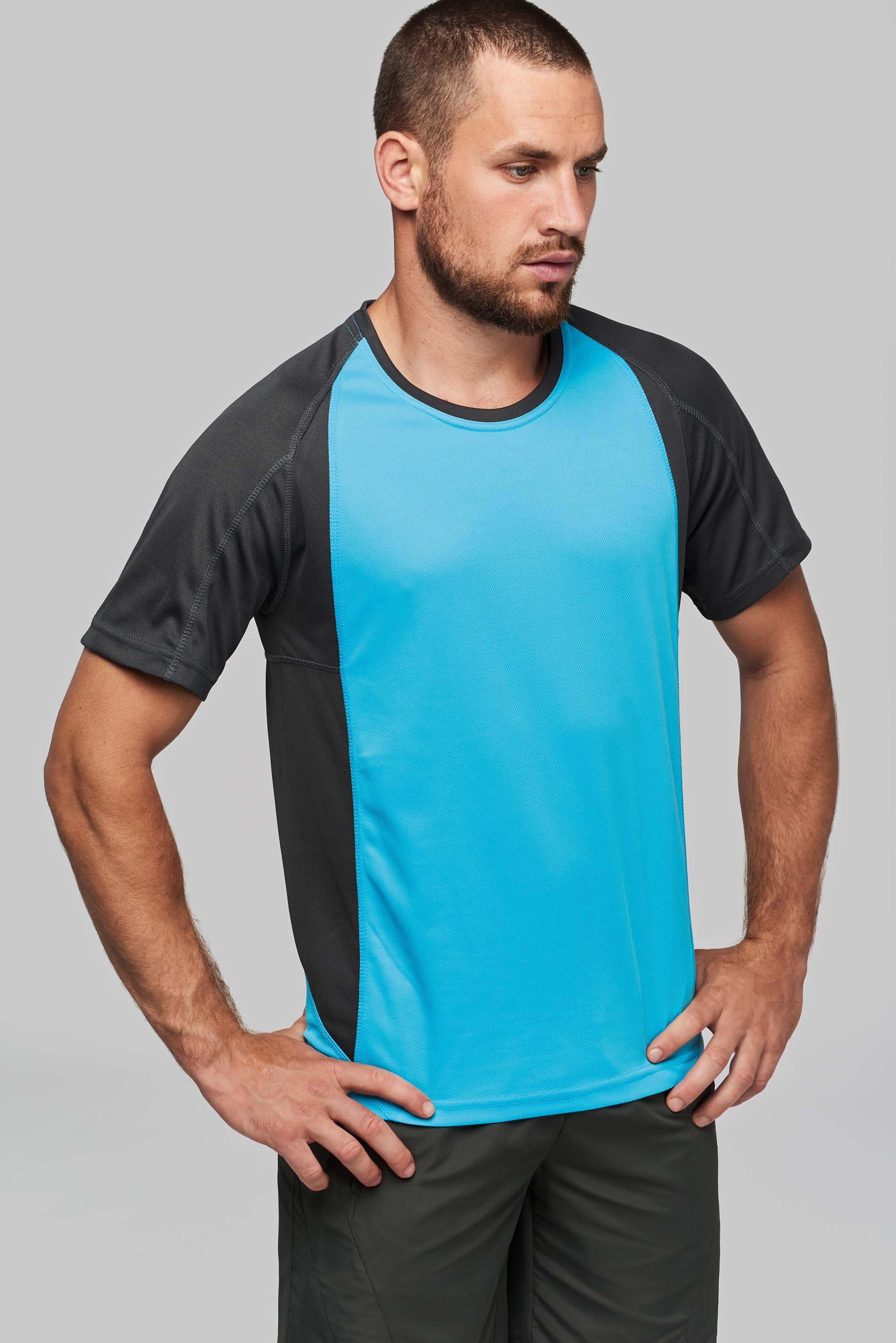 T-shirt 100% polyester bicolore