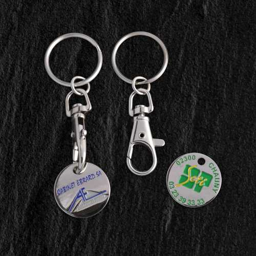 Porte-clés jeton metal