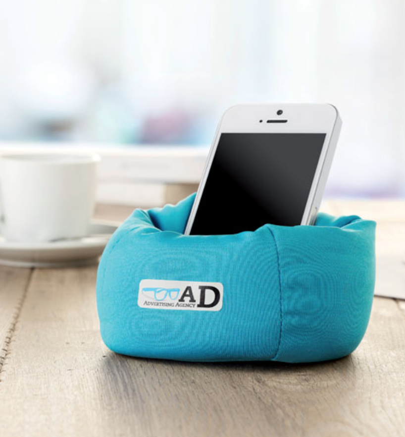 Support smartphone coussin