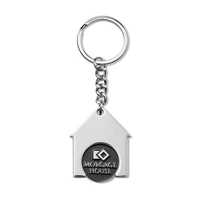 Porte-clés jeton forme maison