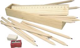 Set plumier en bois
